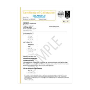 Labcold Calibration - Avensys UK Ltd