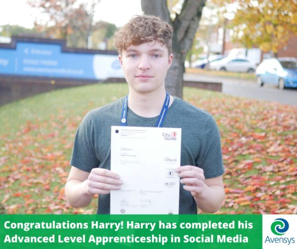 Avensys Apprentice completed his apprenticeship