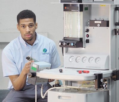 Avensys apprentice engineer fixing and maintaining medical devices