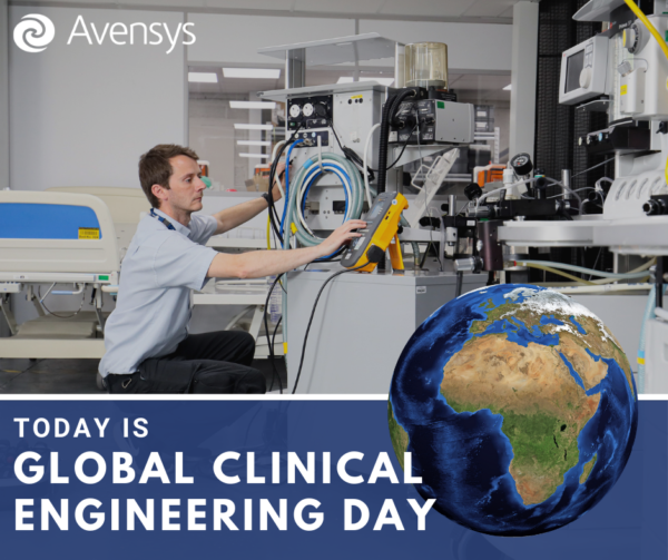 Avensys engineer fixing and maintaining medical devices